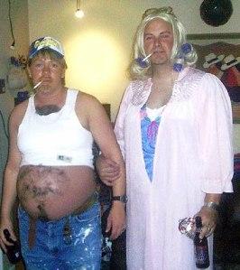 Pregnant white trash costume