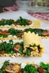 TheUneditedMama Mushroom Lasagna Roll Ups in Creamy Gorgonzola Cauliflower Sauce